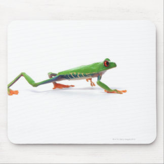Red eyed tree frog walking mouse pad
