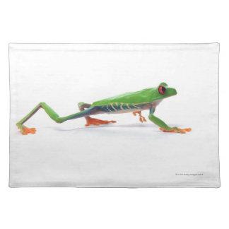 Red eyed tree frog walking placemat