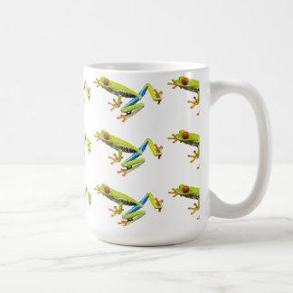 Red eyed tree frogs basic white mug