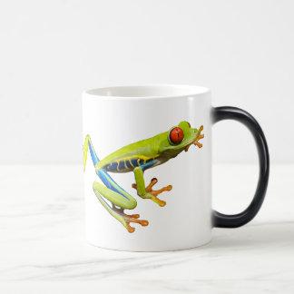 Red eyed tree frogs morphing mug
