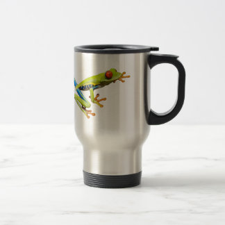 Red eyed tree frogs stainless steel travel mug