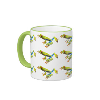 Red eyed tree frogs ringer mug