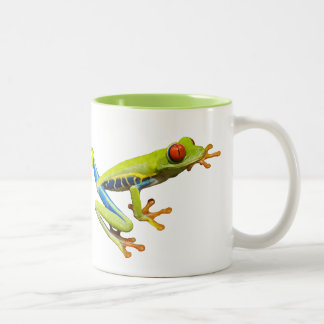 Red eyed tree frogs Two-Tone mug