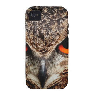 Red Eyes Eagle Owl iPhone 4/4S Case