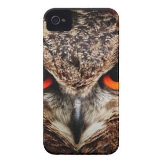 Red Eyes Eagle Owl Case-Mate iPhone 4 Cases