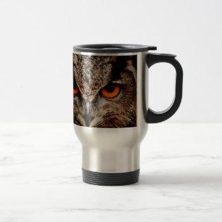 Red Eyes Eagle Owl Coffee Mugs