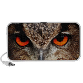 Red Eyes Eagle Owl Travel Speakers
