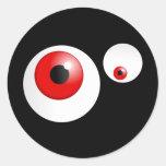 Red Eyes Round Stickers