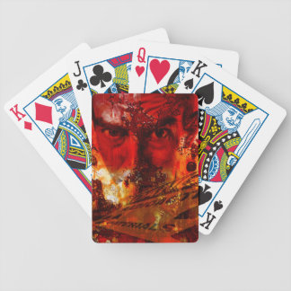 Red Face Graffiti Bicycle Playing Cards