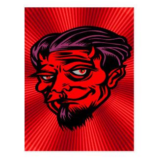 Red Faced Devil Postcard