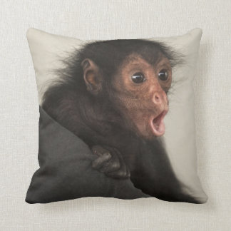 Red-faced Spider Monkey Ateles paniscus) Throw Pillow