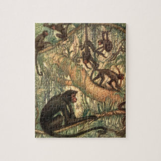 Red Faced Spider Monkeys by Louis Sargent Jigsaw Puzzle