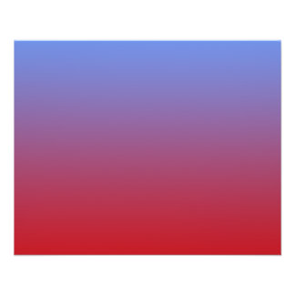 Red fading to Blue Colors simple design Custom Flyer