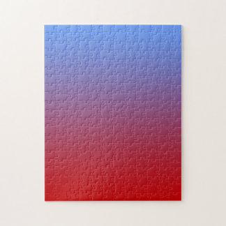 Red fading to Blue Colors, simple design. Jigsaw Puzzle