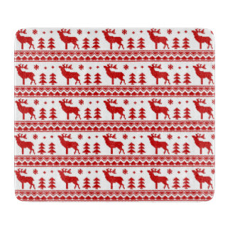 Red Fair Isle Christmas Cutting Board