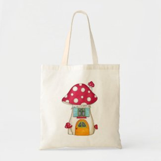Red Fairy Toadstool Bag
