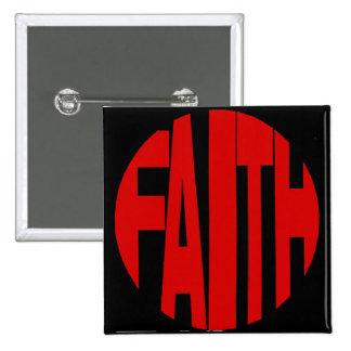 Red Faith Button