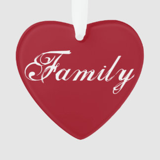 "Red ""Family"" Heart Ornament"