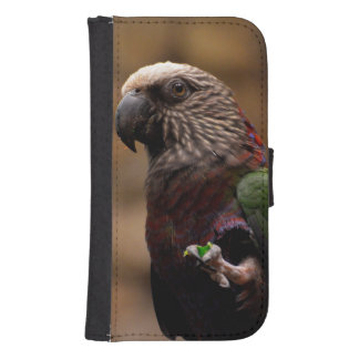 Red Fan Parrot Samsung S4 Wallet Case