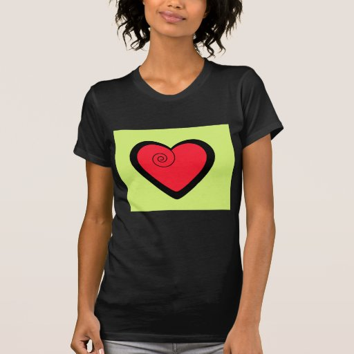 Red fancy heart personalized gifts t-shirt