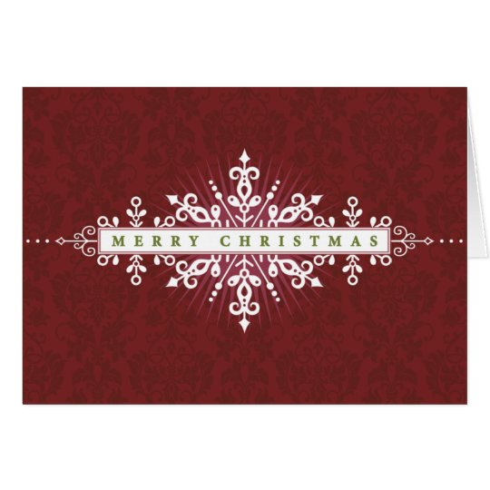 Red Fancy Merry Christmas Card