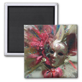 Red Fantasy Angel Square Magnet