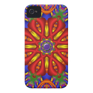 Red fantasy flower iPhone 4 case-mate case