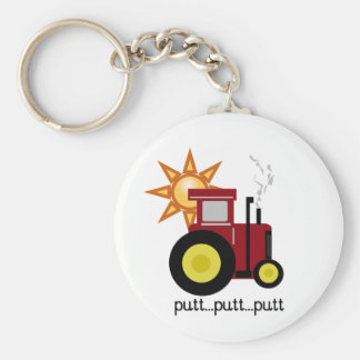 Red Farm Tractor Keychains