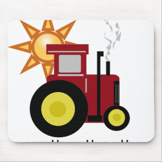 Red Farm Tractor Mouse Mat