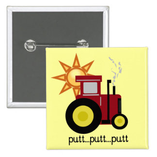 Red Farm Tractor T-shirts and Gifts 15 Cm Square Badge