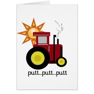 Red Farm Tractor T-shirts and Gifts Greeting Card