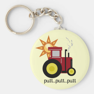 Red Farm Tractor T-shirts and Gifts Keychains