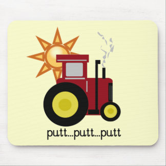 Red Farm Tractor T-shirts and Gifts Mouse Pad