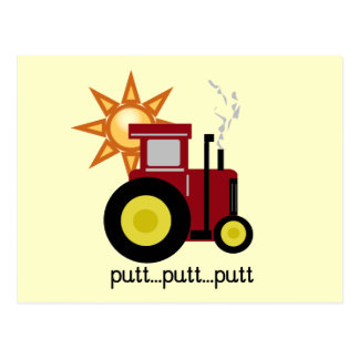 Red Farm Tractor T-shirts and Gifts Post Card