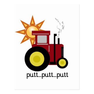 Red Farm Tractor T-shirts and Gifts Postcard