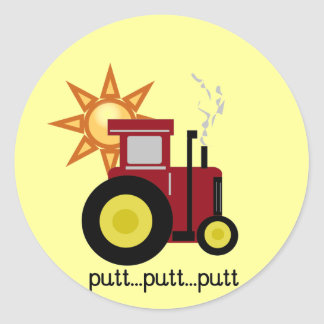 Red Farm Tractor T-shirts and Gifts Stickers