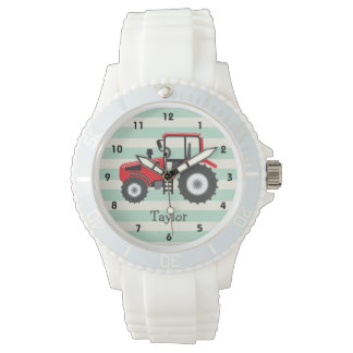 Red Farm Tractor Watch