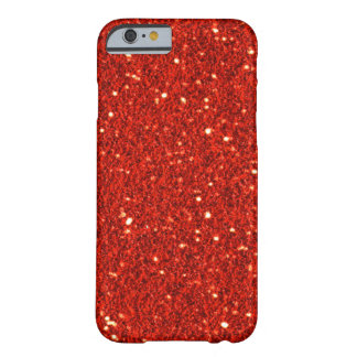 Red Faux Glitter iPhone 6 case Barely There iPhone 6 Case