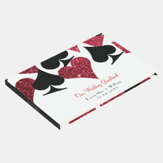Red Faux Glitter Las Vegas Guestbook