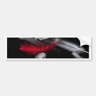 Red Feather Bumper Sticker
