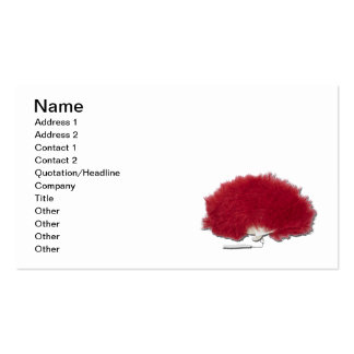 Red Feather Fan Pack Of Standard Business Cards