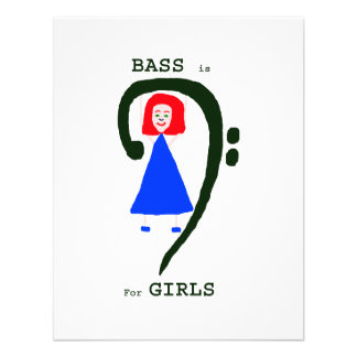 Red female blue dress green bass clef n text personalized invite