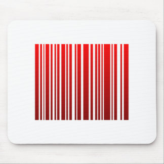 red feminine bar code mouse pad