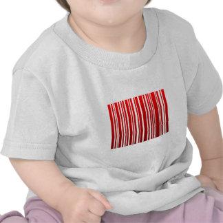 red feminine bar code tshirt