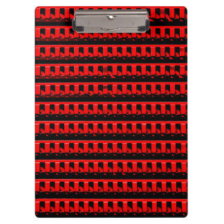 Red Fence Clipboard