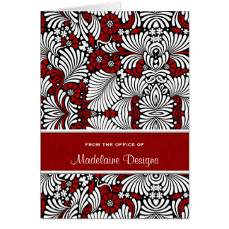 Red Fern Wood Personalized Business Note Cards