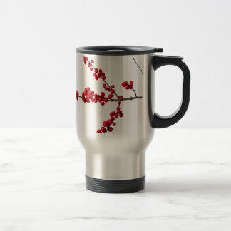 Red Festive Berrys Travel Mug