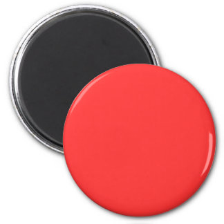 Red #FF3333 Solid Color 6 Cm Round Magnet