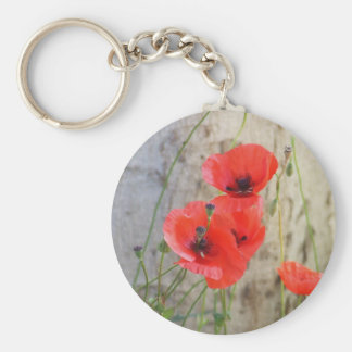 Red Field Corn Poppies Keychain