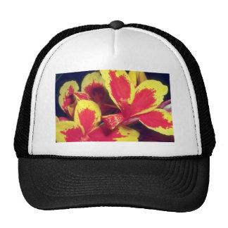 Red Fiery Glory flowers Trucker Hats